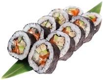 sushi chua nhieu carb